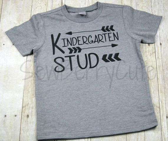 Kindergarten Shirt Kindergarten Stud Back by SewBerryCuteBoutique