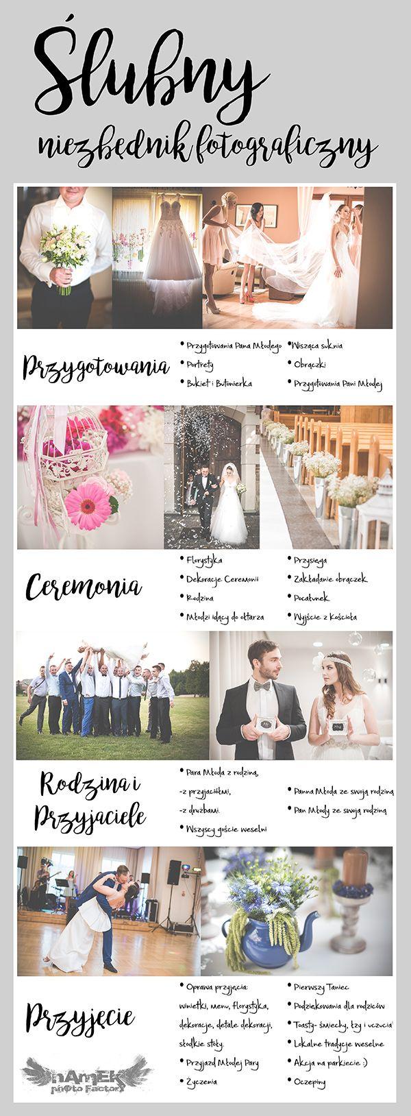 Niezbędnik ślubnych ujęć na ślubie i weselu