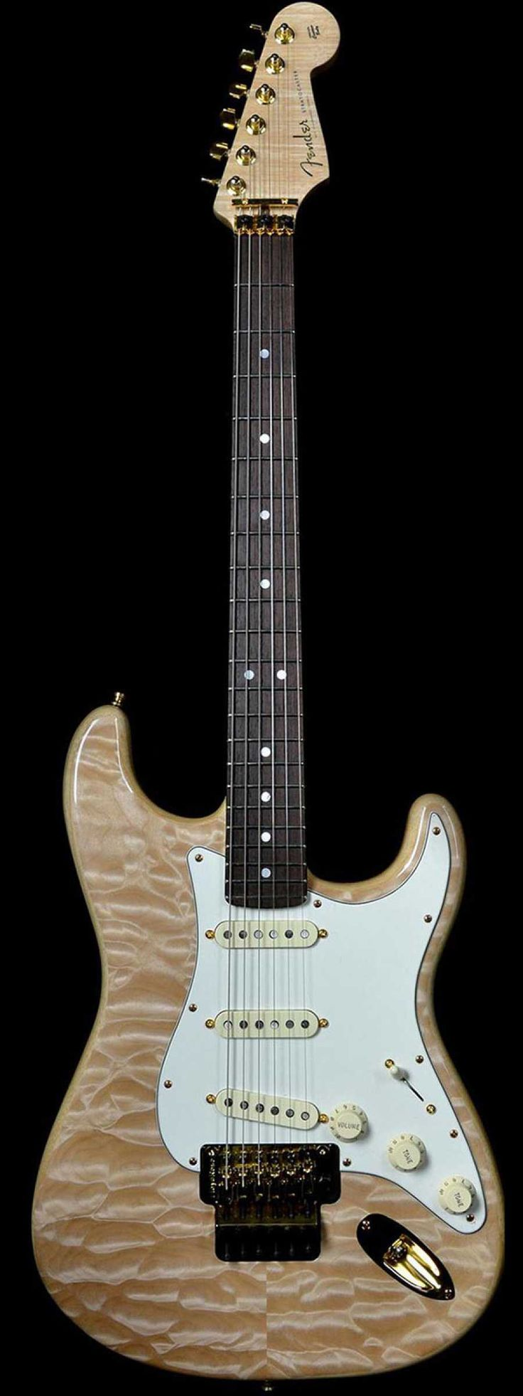 Fender Yuriy Shishkov Master Built Stratocaster Natural Quilt - Wild West Guitars