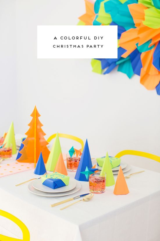 A Colorful DIY Christmas Party