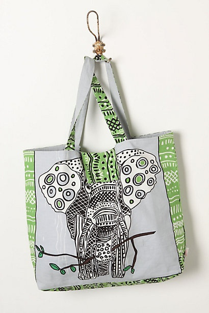I love elephants, and I love totes, so to me, this equals perfection.