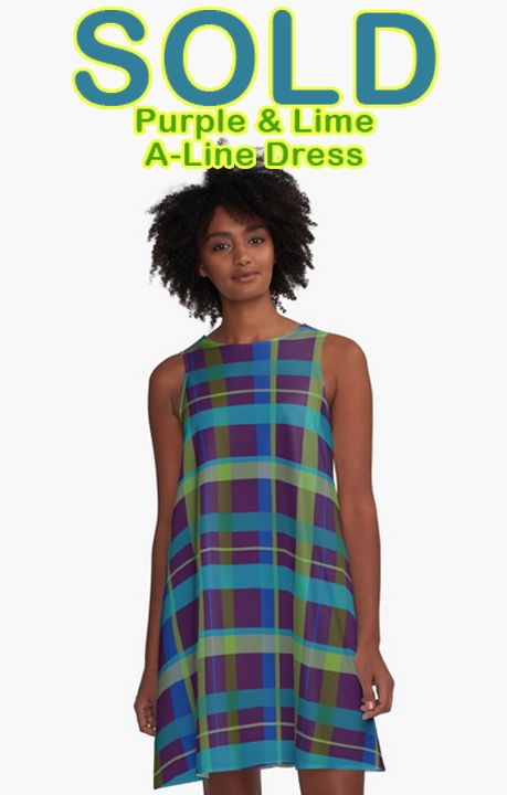 SOLD!!! Purple and Lime A line Dress by Scar Design. Many Thanks to the buyer!!!    #alinedress #dress #buydress #plaid #plaiddress #buyplaiddress #giftsforher #fashion #womansfashion #style #redbubble #scardesign #moderndress #buycoolgifts #gifts #buymoderndress #onlineshopping #stylegifts #casual #summer #summergifts