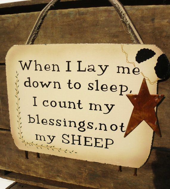 Primitive Sheep Sign by TandJscountrycrafts on Etsy, $14.95 Like this will remember when I can't sleep!