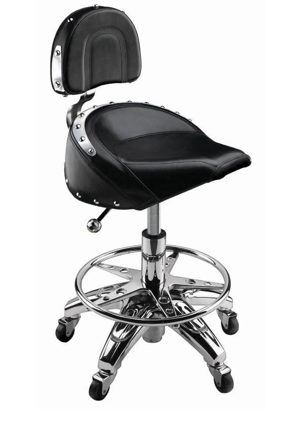 gudcraft leather bar stool for harley davidson bikers