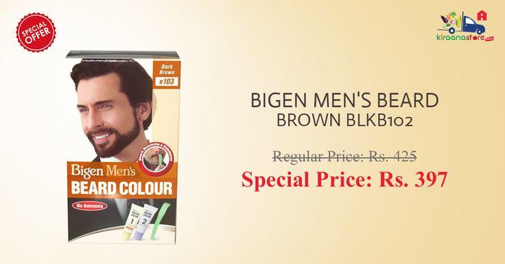 Shop Online for Bigen Men's Beard Brown Colour at Discounted Price on Kiraanastore.