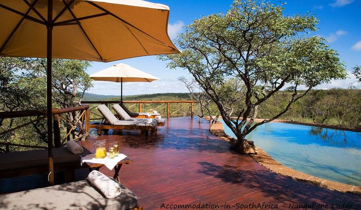 Come and relax at Nungubane Lodge beautiful pool. Vaalwater Lodges.