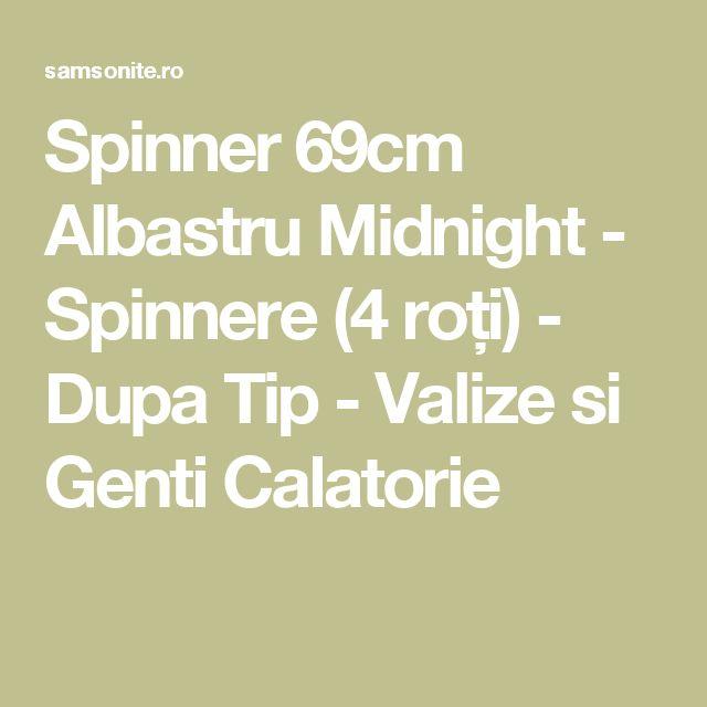 Spinner 69cm Albastru Midnight - Spinnere (4 roți) - Dupa Tip - Valize si Genti Calatorie