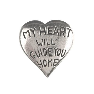 No matter where your husband or boyfriend travels, this fine pewter heart is one way of reminding him how much you care.  It is a sweet little token that he can carry in his pocket, put on his desk or wherever he likes.  He will love the sentiment that is attached to it. The perfect gift for Valentines Day.