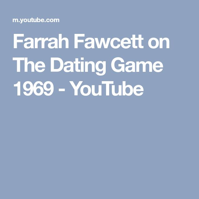 Farrah Fawcett on The Dating Game 1969 - YouTube