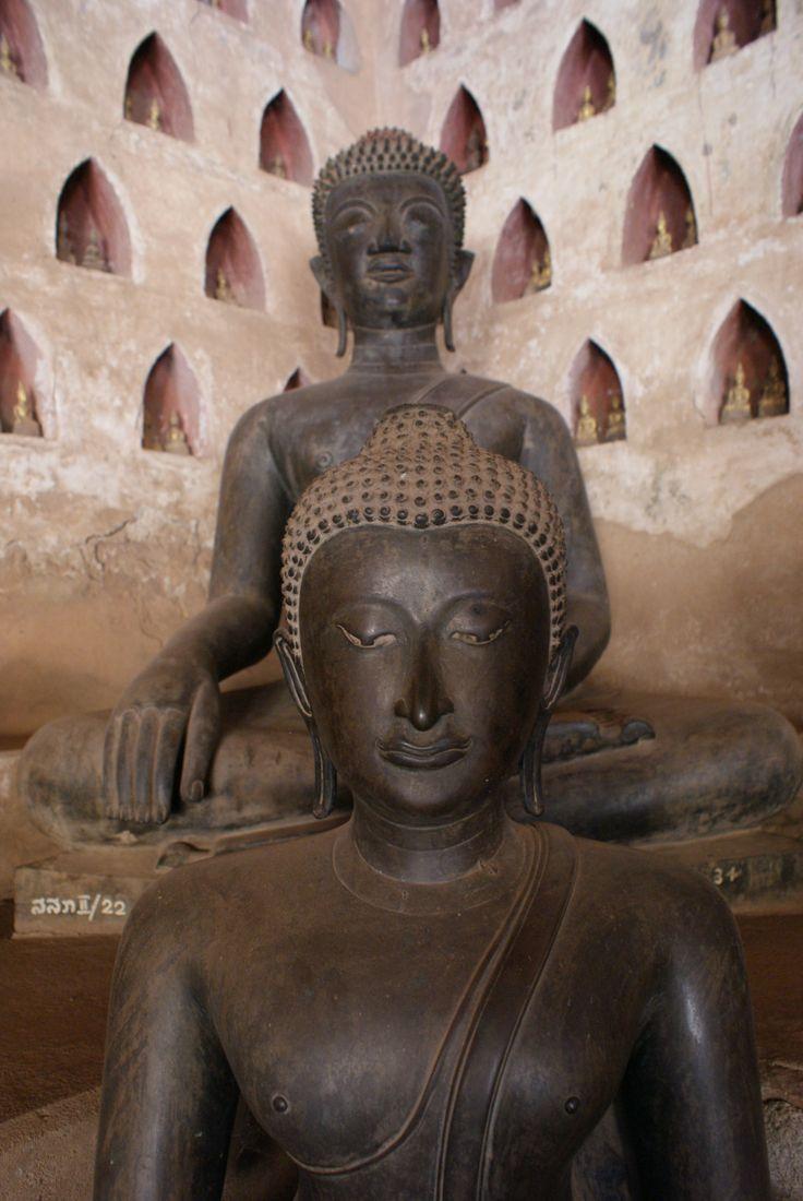 Buddha Statues at Wat Sisaket  Vientiane Laos