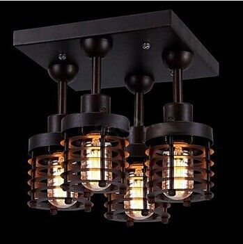 Goedkope 4 lichten loft retro stijl edison lamp vintage industriële plafondlamp, e27 lamp inbegrepen voor foyer slaapkamer eetkamer armaturen, koop Kwaliteit plafondverlichting rechtstreeks van Leveranciers van China: specificatieslicht informatietypeinbouwstijlModerne/hedendaagseaantal lagen1 tierlicht richtinguplightvoorgesteld kamer