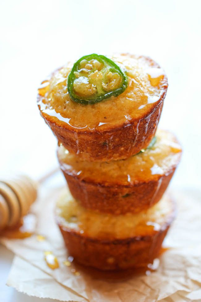 Jalapeno Cornbread Muffins - These sweet, crumbly muffins are unbelievably easy to make and incredibly addicting!