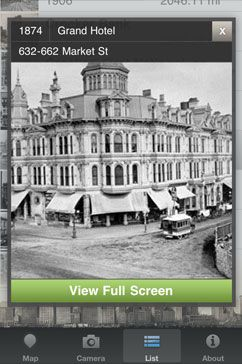 What Was There: An iPhone app that shows historical photos at specific locations.