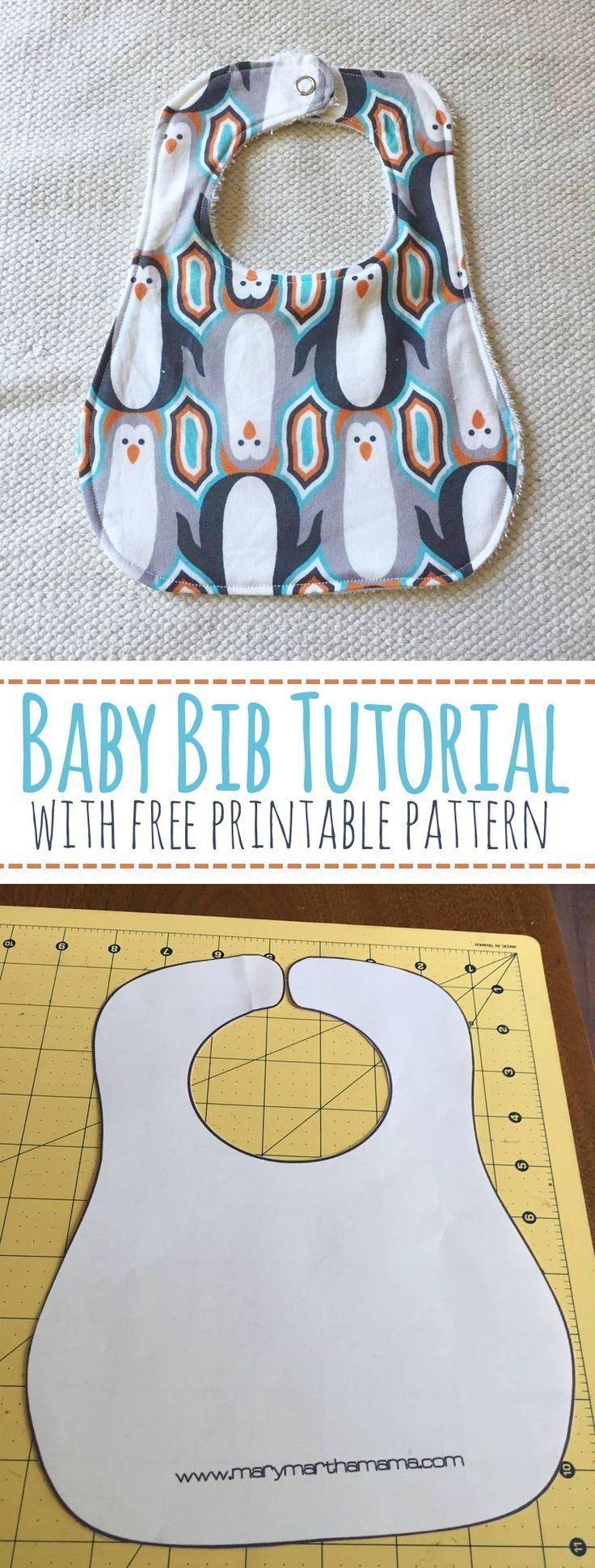 Baby Bib Tutorial with Free Pr
