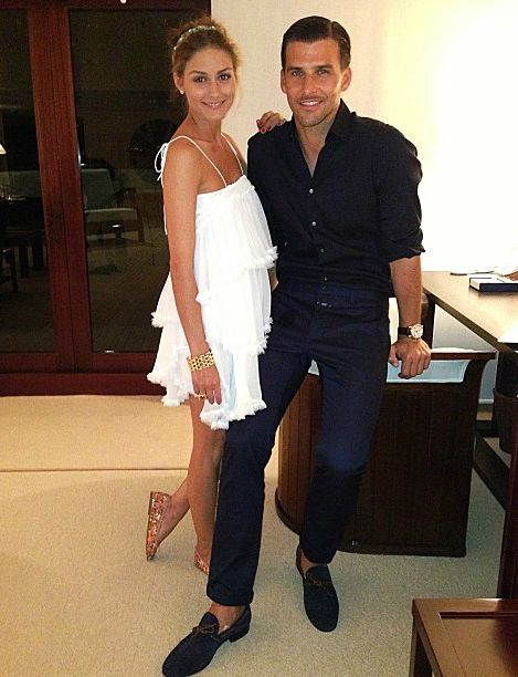 Olivia Palermo and Johannes Huebl at Brian Atwood Greek Gatsby Birthday Party