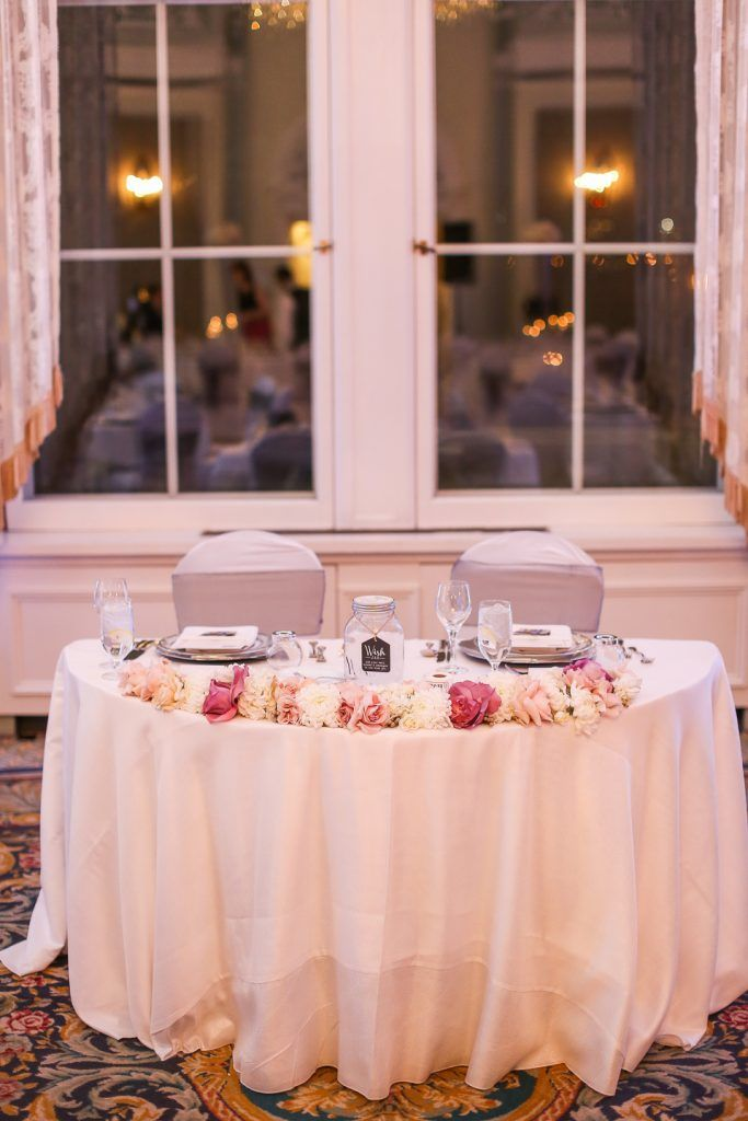 NYE Wedding, Head Table, Table For Two,