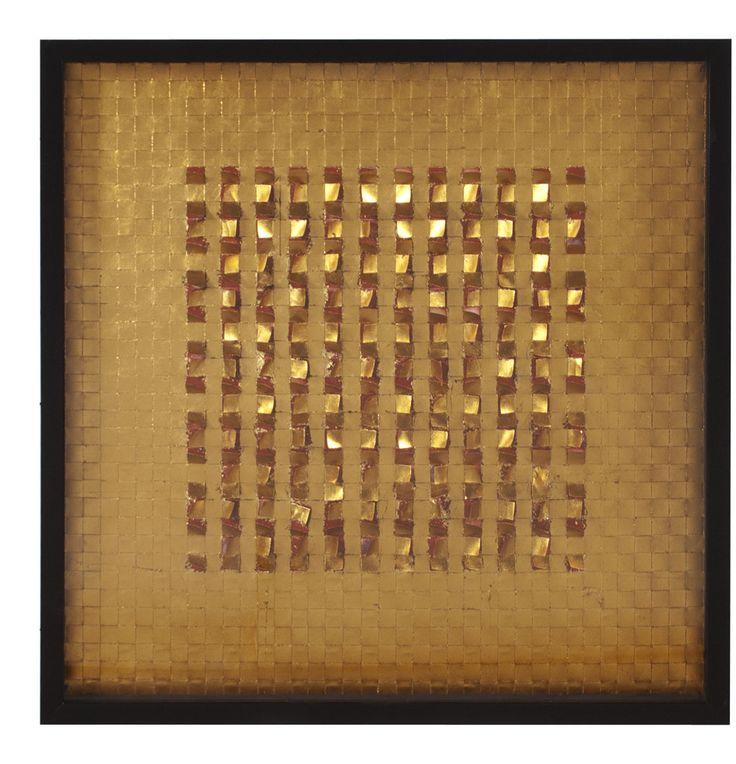 Industrial Fabric Framed Wall Decor