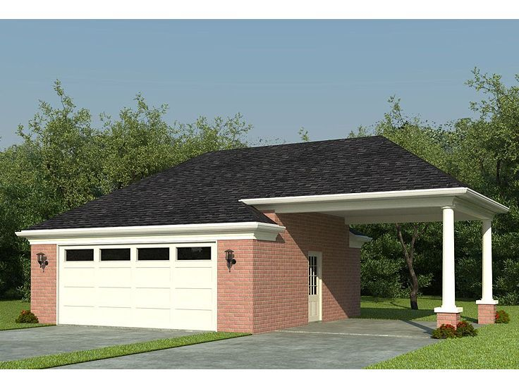 32 best garage plans with carports images on pinterest for 3 car carport designs