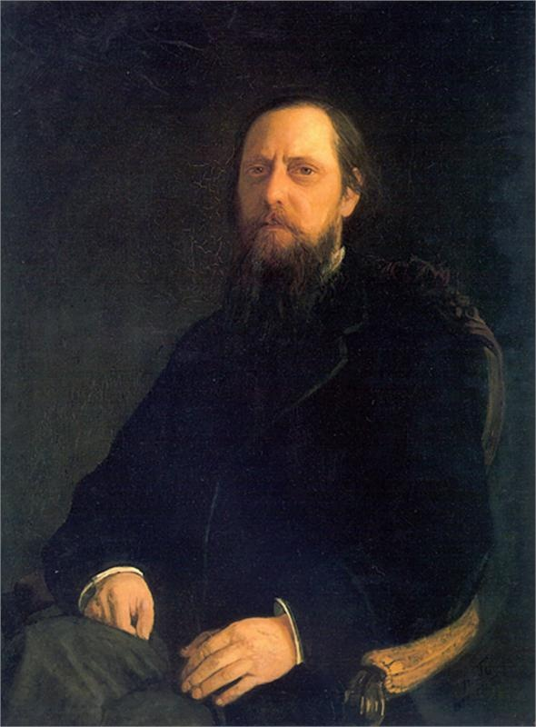 Portrait of the Author Mikhail Saltykov-Shchedrin,   Nikolai Ge