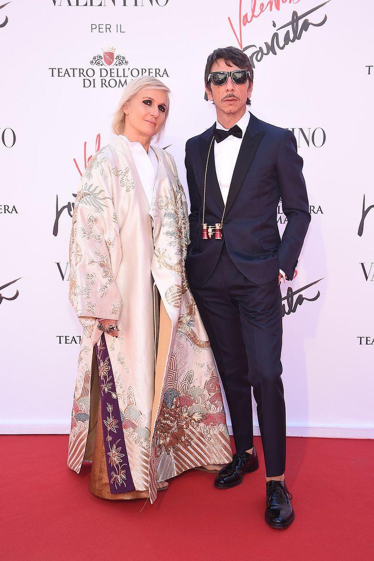 Creative Directors, Maria Grazia Chiuri and Pierpaolo Piccioli attending the special edition of 'La Traviata' at Teatro Dell'Opera di Roma, on May 22th, 2016.