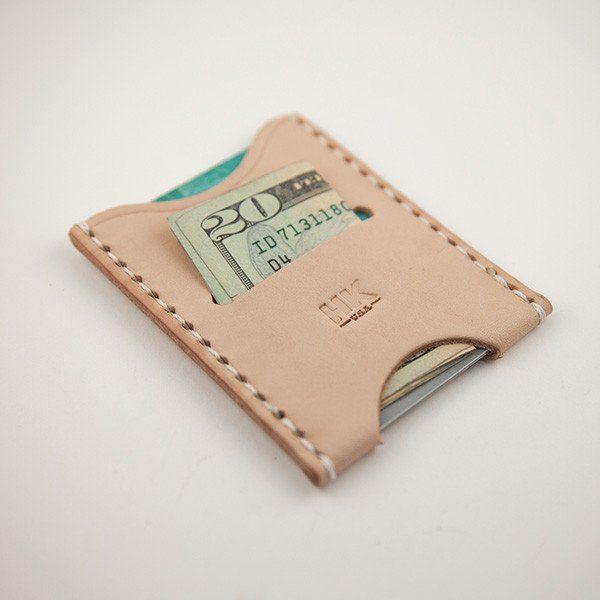 Slim Card Wallet, Natural