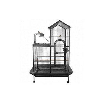 Papegaaienkooi Torino is een mooie papegaaienkooi, geschikt voor diverse papegaaien. Met 4 zwenkwielen, 4 rvs voerbakjes, 2 houten zitstokken.
