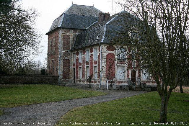 VadenCourt, France | le jour ni l heure 1314 vestiges du chateau de vadencourt xviiie xxe s ...