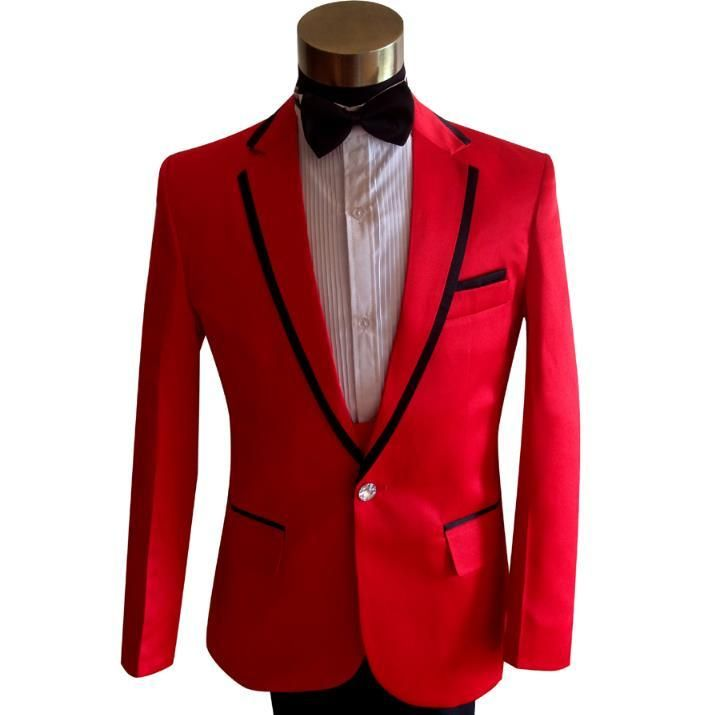 Red formal dress latest coat pant designs suit men fashion homme terno masculino trouser marriage wedding suits for men's dance