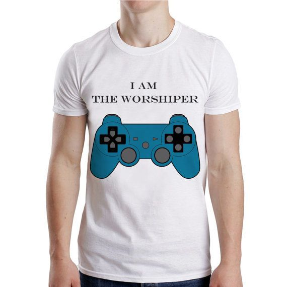 I am the worshiper game for men t shirt from NewGalaxy on Etsy