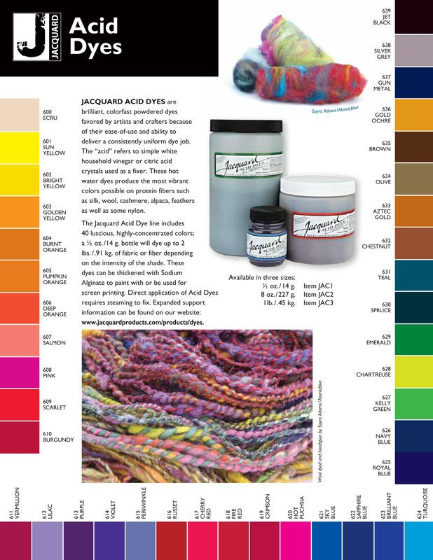Jacquard Acid Dye, Fire Red 618, for Wool, Silk , Feathers, Nylon, and Other Protein Fibers - product images of