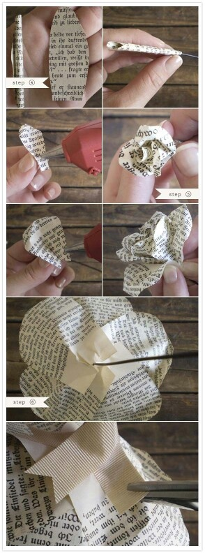 Paper roses. You can even spray paint them red!