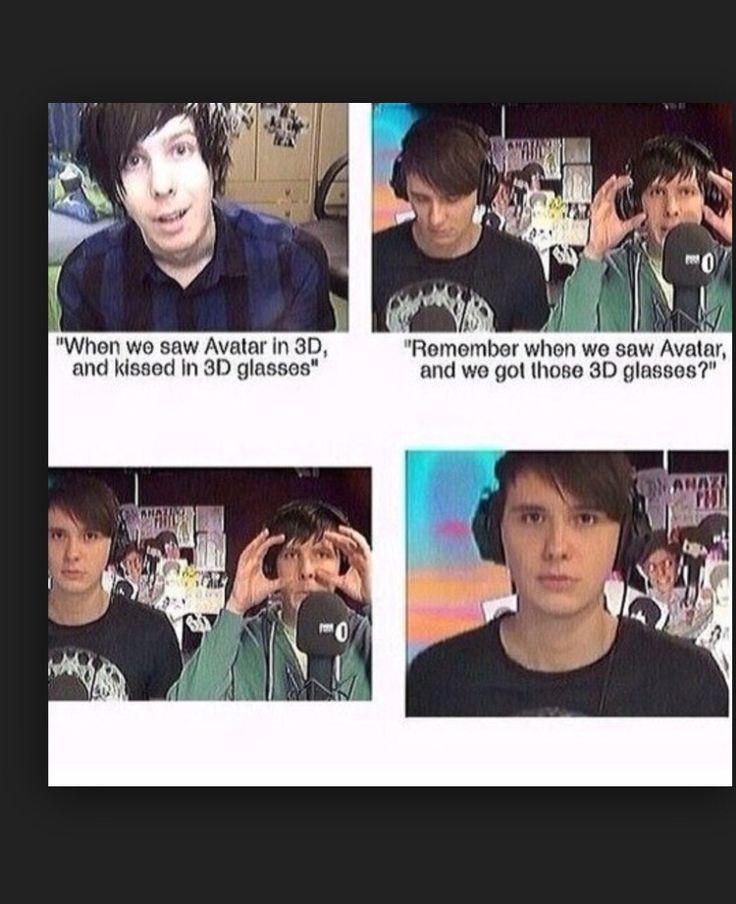 Dan's eyes...