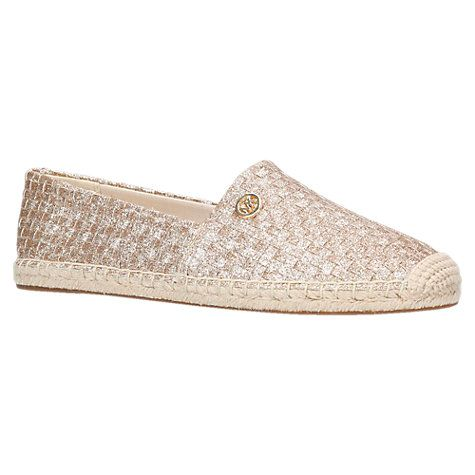 63b38e0ec Buy MICHAEL Michael Kors Kendrick Slip On Espadrilles, Gold Online at  johnlewis.com