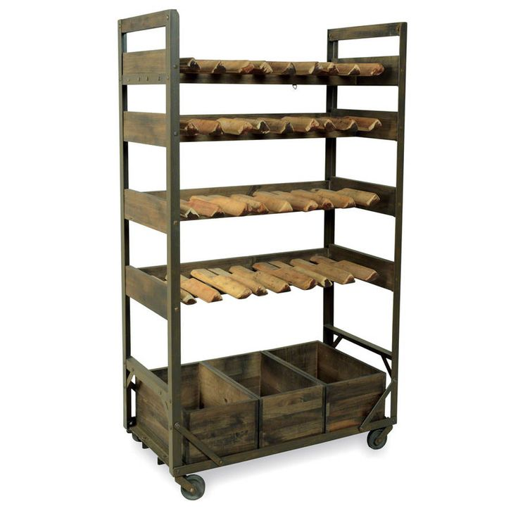 This stunning vintage industrial styled Wine Rack is a talking point for the kitchen.   Practical enough to hold up to 32 bottles of wine, as well as enough room in the 3 bottom row storage crates to hold your everyday kitchen essentials, and yet a truly stylish piece of furniture, which we believe is timeless.  Our Industrial Vintage collection is well suited to both a minimalist loft and warehouse setting, as well as country home and shabby chic interior scheme and this stunning vintage…