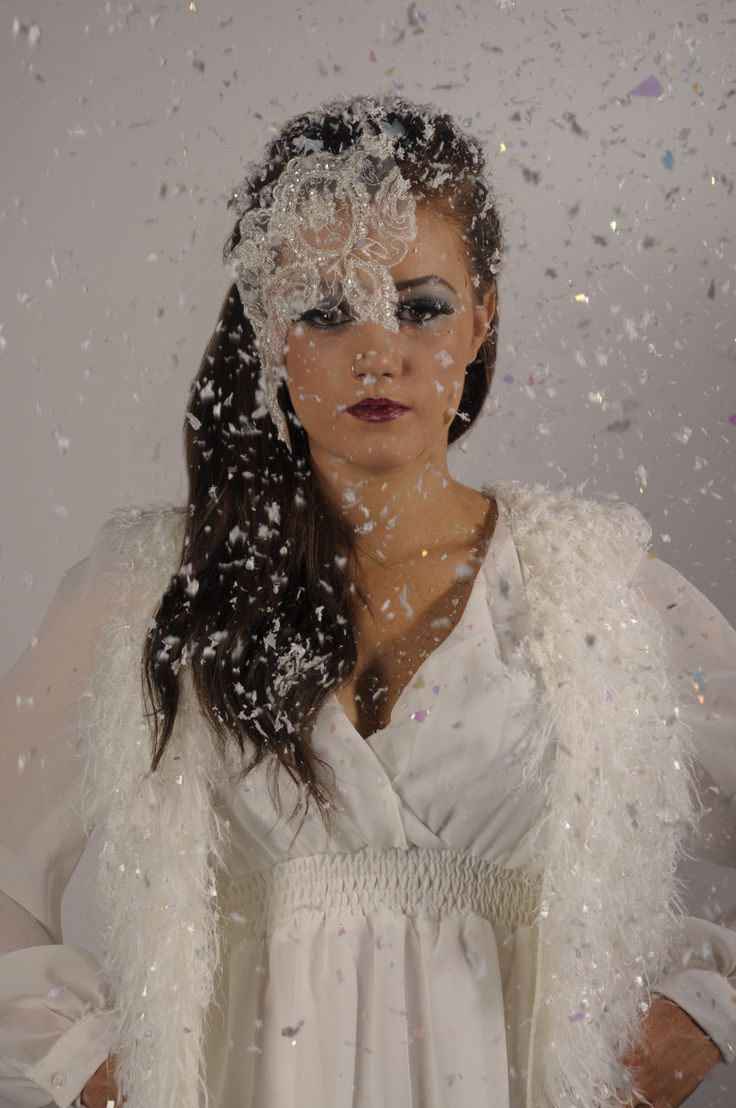 Snow queen winter makeup
