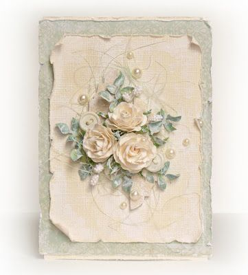 ...by Ashatanka: Розы и жемчуг - description can be translated to English - beautiful 'card'