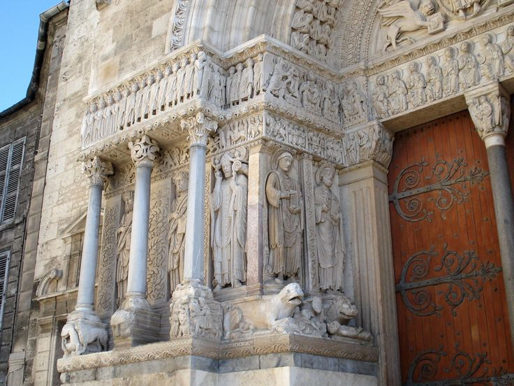 romanesque architecture france church of st trophime arles the