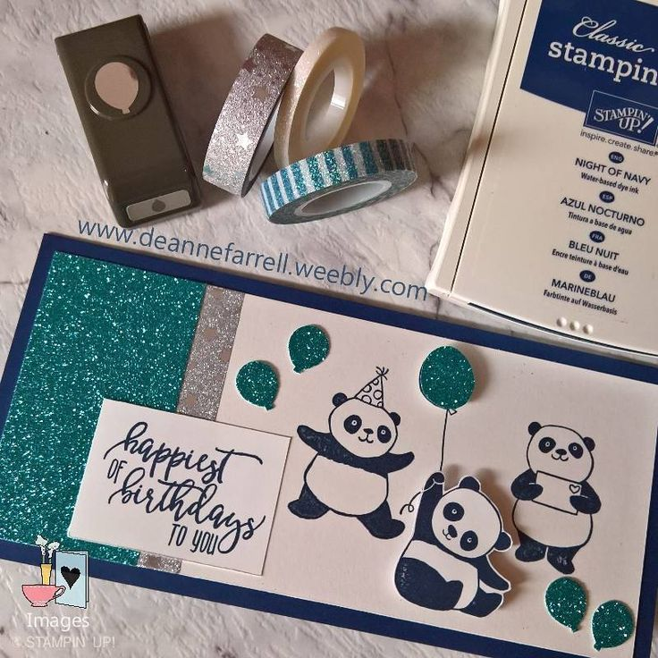 Birthdays are better with handmade cards  #birthdayboy #partypanda #saleabration2018 #stampinup #dlbcraft