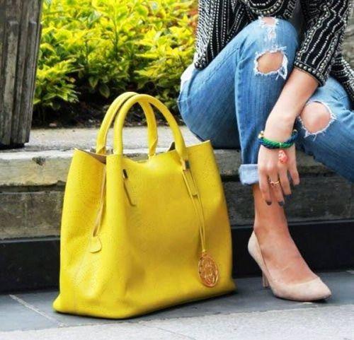 flashy yellow bag~♡