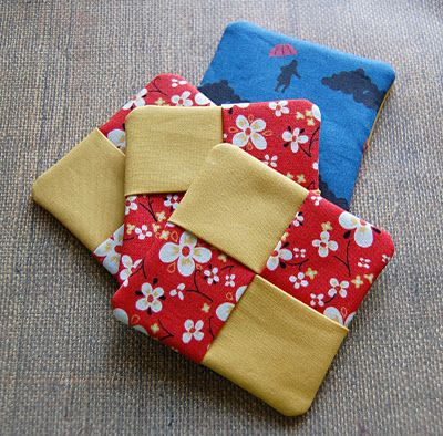 fabric coasters. Could also do circles