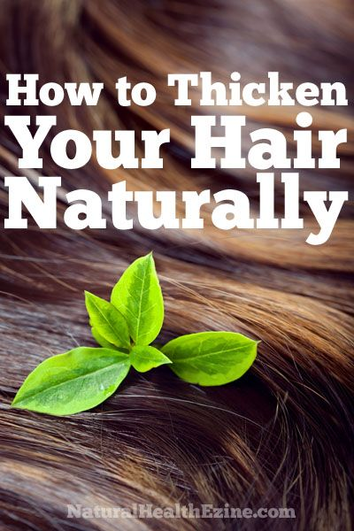 A brief article explaining how to thicken hair naturally...