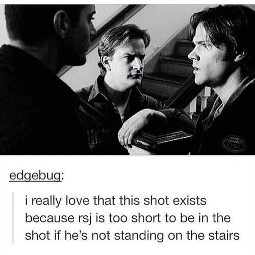 Supernatural fandom | Gabriel... didn't he also say he was standing on boxes