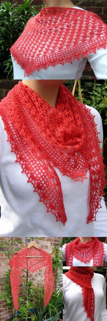 I would like to do this in white or charcoal gray. Summer Sprigs Lace Scarf - Free pattern!