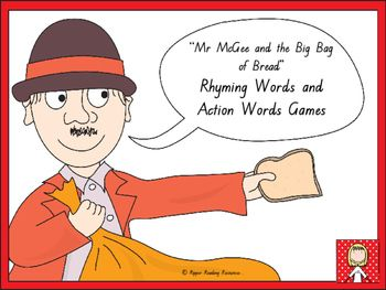 Rhyming words game cards are included with four rhyming words game instructions…