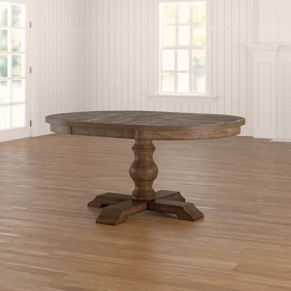 Lowrance Extendable Solid Oak Pedestal Dining Table In 2021 Dining Table Extendable Dining Table Wood Dining Table