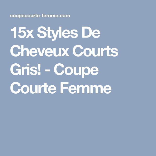 15x Styles De Cheveux Courts Gris! - Coupe Courte Femme