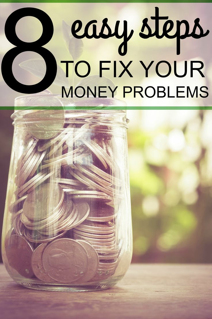 Use these 8 steps to help you solve your money problems. Full blog post here: http://www.amandaabella.com/8-steps-to-help-you-fix-your-money-problems/