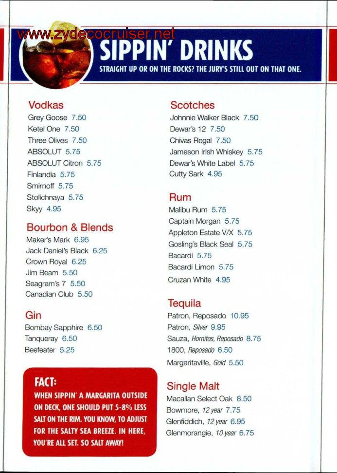 Carnival Cruise Dinner Menu 2020.Carnival Bar Menu Page 4 In 2019 Carnival Elation Bar
