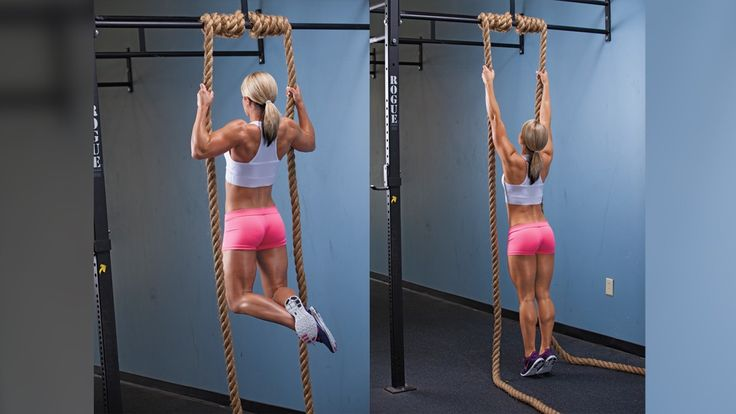 Try this double rope pull-up arms exercise demonstrated by Nicole Wilkins Lee