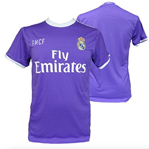 CAMISETA 2ª EQUIPACION REPLICA OFICIAL REAL MADRID 2016-2017 LISO ADULTO (L) #regalo #arte #geek #camiseta